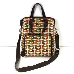 Orla Kiely For Apple Coated Cotton Laptop Bag Tote